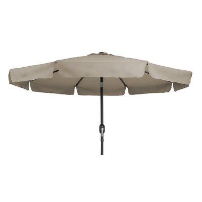 9 Tilt Crank Drape Umbrella Fabric: Tan