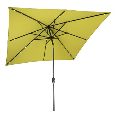 8 Square Illuminated Umbrella Color: Light Green