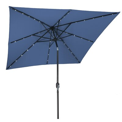 8 Square Illuminated Umbrella Color: Blue