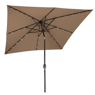 8 Square Illuminated Umbrella Color: Tan