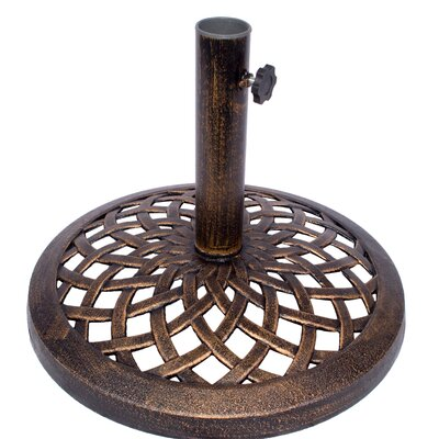 Cast Iron Umbrella Base Color: Bronze