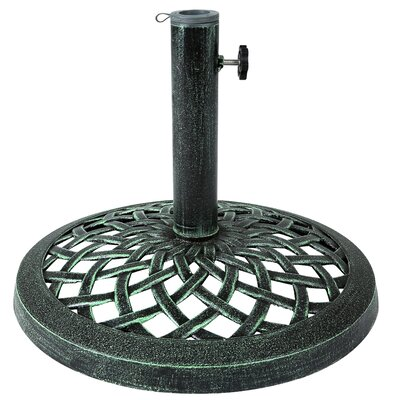 Cast Iron Umbrella Base Color: Green