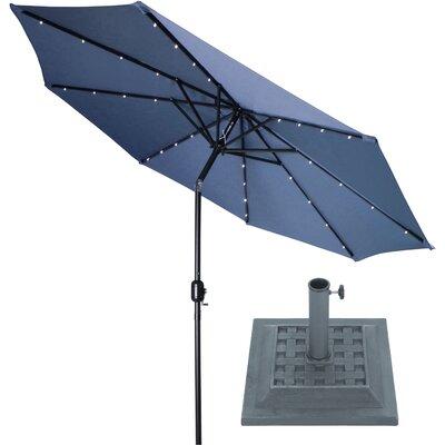 9 Illuminated Umbrella Color: Navy Blue