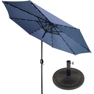 9 Illuminated Umbrella Color: Blue