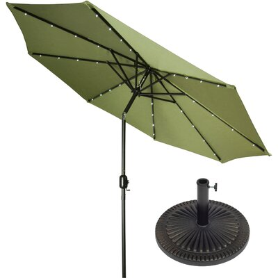 9 Illuminated Umbrella Color: Light Green