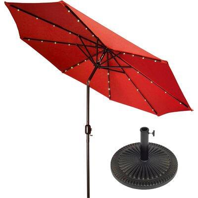 9 Illuminated Umbrella Color: Red
