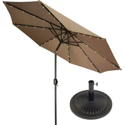 9 Illuminated Umbrella Color: Tan