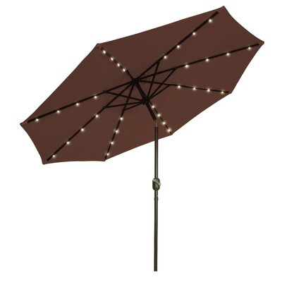 9 Illuminated Umbrella Color: Brown