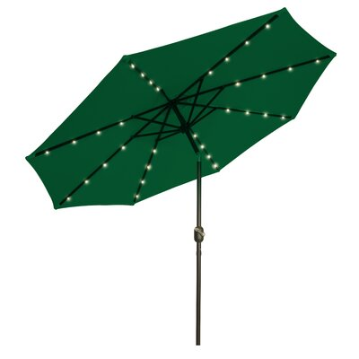 9 Illuminated Umbrella Color: Green
