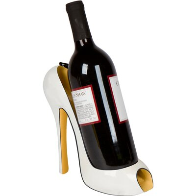 Flower High Heel 1 Bottle Tabletop Wine Holder