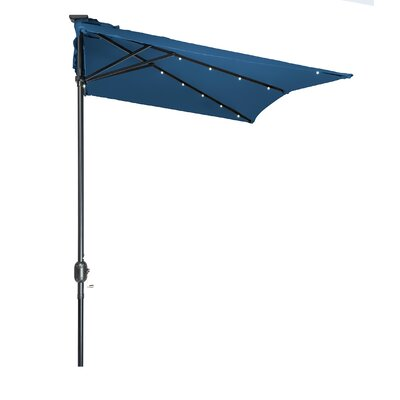 5 x 6.5 Hexagon Illuminated Umbrella Fabric: Blue