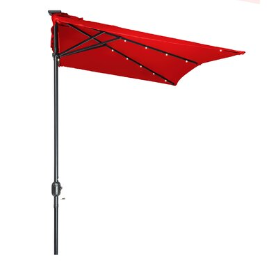 5 x 6.5 Hexagon Illuminated Umbrella Fabric: Red