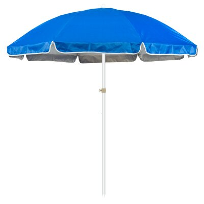 6.5 Portable Beach and Sports Drape Umbrella Fabric: Blue