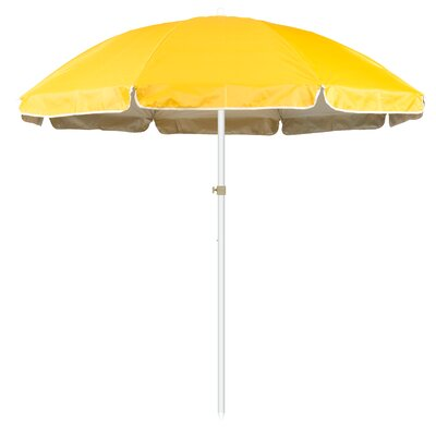 6.5 Portable Beach and Sports Drape Umbrella Fabric: Yellow