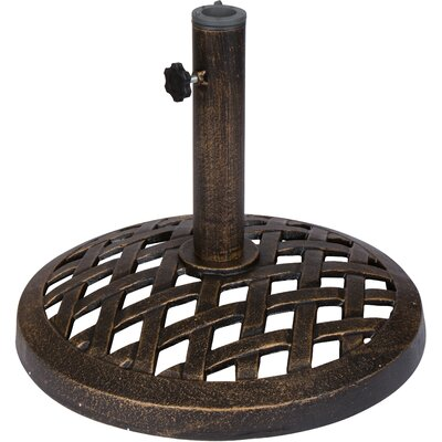 Elkville Cast Iron Umbrella Base Finish: Bronze