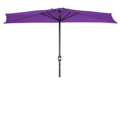 9' Half Market Umbrella Fabric: Purple PATUMB-HALF-PURPLE