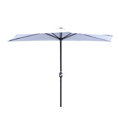 9 Market Umbrella Fabric: White