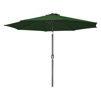 10 Tilt Crank Market Umbrella Fabric: Dark Green