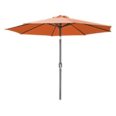 10 Tilt Crank Market Umbrella Fabric: Orange