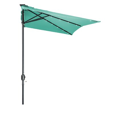 5 x 6.5 Hexagon Illuminated Umbrella Fabric: Teal