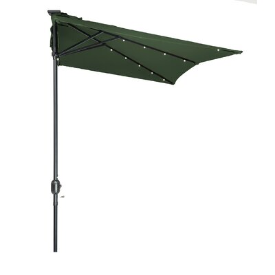 5 x 6.5 Hexagon Illuminated Umbrella Fabric: Dark Green