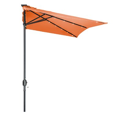 5 x 6.5 Hexagon Illuminated Umbrella Fabric: Orange