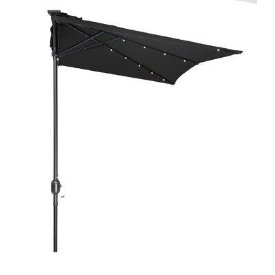 5 x 6.5 Hexagon Illuminated Umbrella Fabric: Black