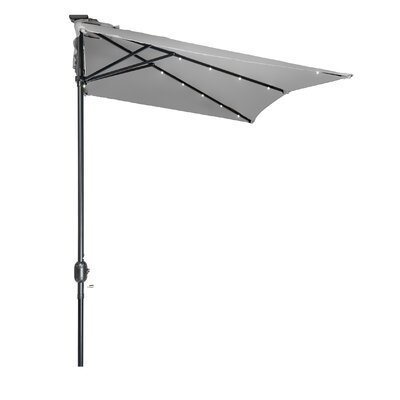 5 x 6.5 Hexagon Illuminated Umbrella Fabric: Gray