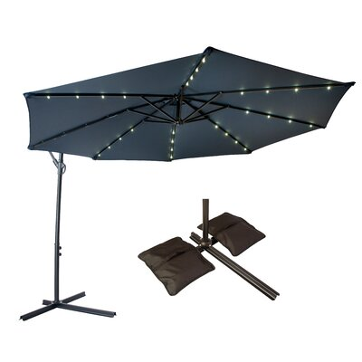10 Offset Patio Cantilever Umbrella Color: Blue