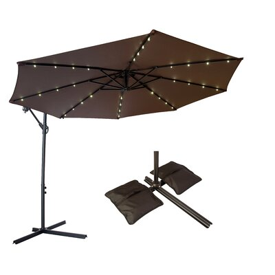 10 Offset Patio Cantilever Umbrella Color: Dark Brown
