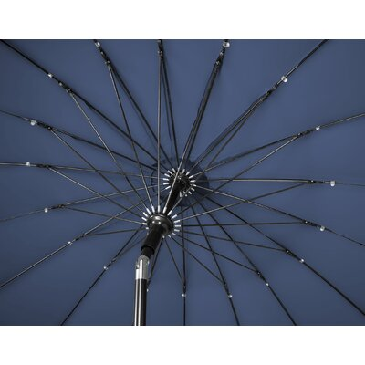 9 Push-Up Patio Market Umbrella Color: Blue