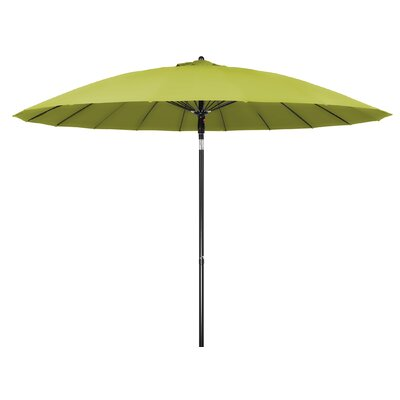 9 Push-Up Patio Market Umbrella Color: Light Green