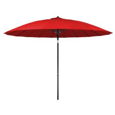 9 Push-Up Patio Market Umbrella Color: Red