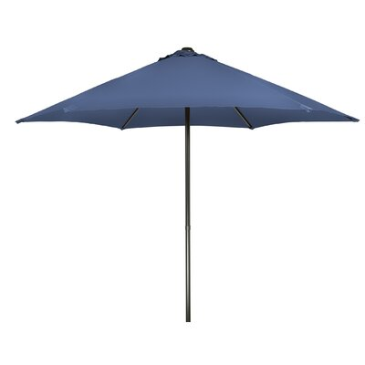 9 Push-Up Patio Market Umbrella Fabric: Blue
