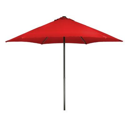 9 Push-Up Patio Market Umbrella Fabric: Red