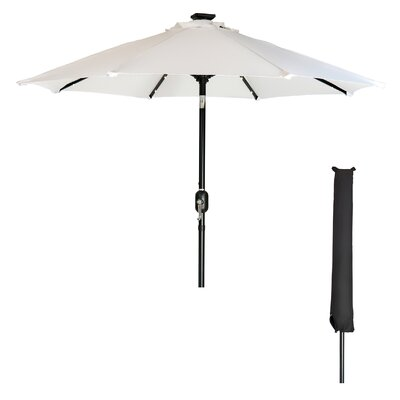 Heger 9 Solar LED Patio Illuminated Umbrella