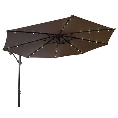 Offset Patio Cantilever Umbrella  Color: Dark Brown
