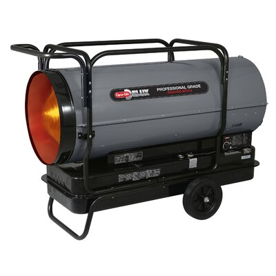 650,000 BTU Portable Kerosene Forced Air Utility Heater with Built in Diagnostic and Flat-Free Wheels