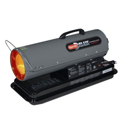 50,000 BTU Portable Kerosene Forced Air Utility Heater with Run Time Fuel Gauge