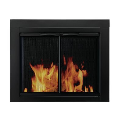 Alpine Cabinet Style Fireplace Screen and Glass Door Size: Medium