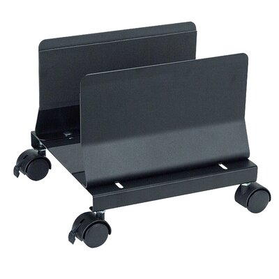 11 H x 10 W Desk CPU Holder Color: Black