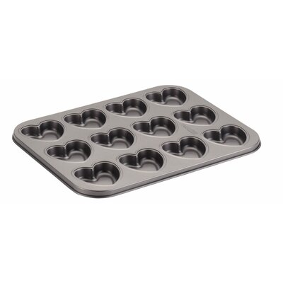 12 Cup Heart Molded Cookie Pan 51077