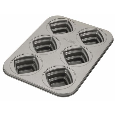 Cake Boss Novelty Non-Stick 6 Cup Square Mold 59417