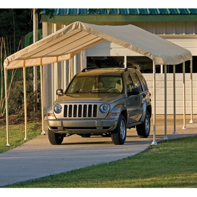 """Shelter Logic 12' Wide Super Max Canopy - Size: 9'6"""" H x 12' W x 26' D, Color: Tan at Sears.com"""
