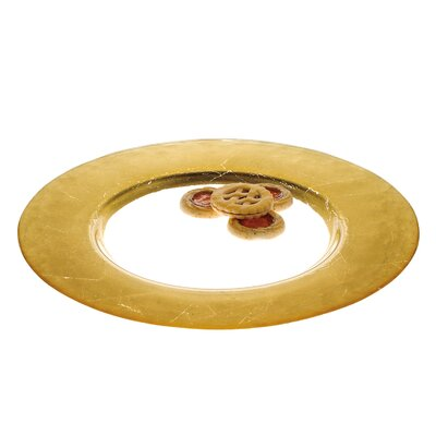 Round Leaf Charger Plate Color: Gold