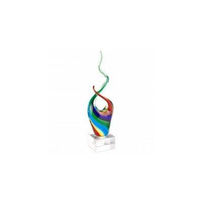 Khadijah Rainbow Murano Glass Abstract Centerpiece Sculpture ORNE5248 42915678