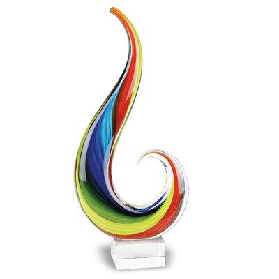 Rainbow Note Centerpiece Sculpture
