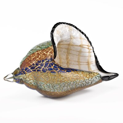 Firestorm Conch Shell Sculpture
