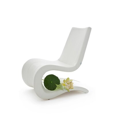 Flow Eco Leather Lounge Chair Finish: White