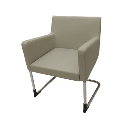 Cosy Eco Leather Arm Chair Finish: Gray